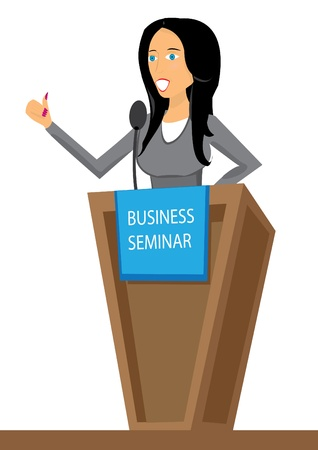conference speaker: Presentation. Business seminar. Speaker. illustration.