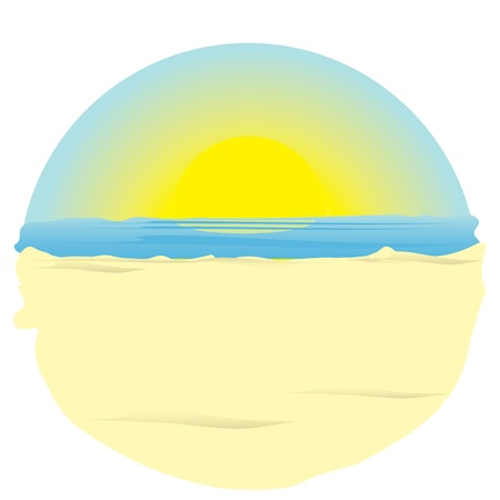 sunrise on ocean. illustration