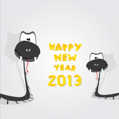 Year of black snake  Vector
