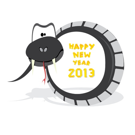 Year of black snake  Stock Vector - 16538507
