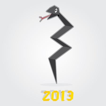 snake origami: Year of black snake