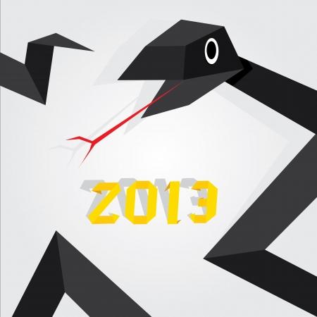 Year of black snake Stock Vector - 16538511