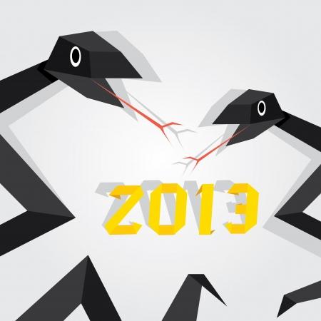 Year of black snake Stock Vector - 16538504