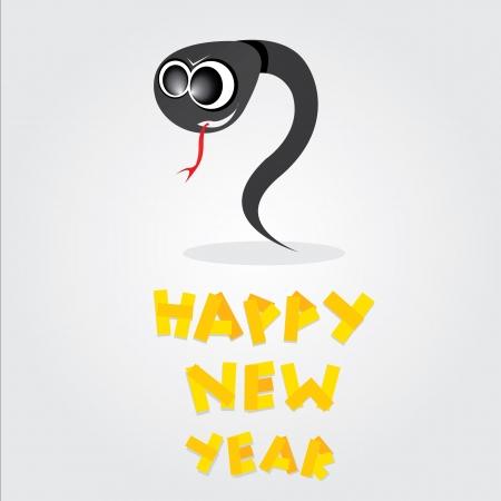 Year of black snake  Stock Vector - 16538509