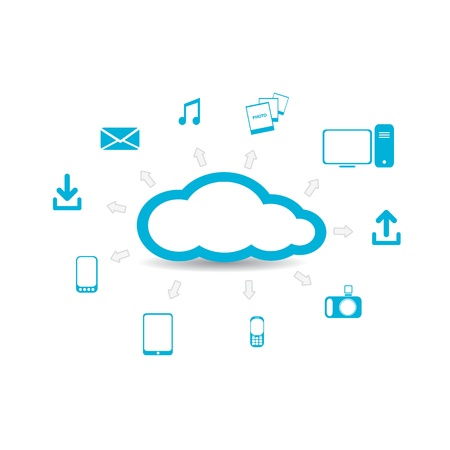 cloud computing: Cloud Computing concept background
