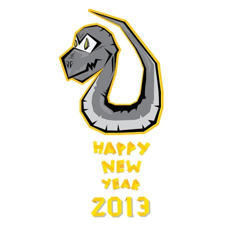 Year of black snake Stock Vector - 16670402