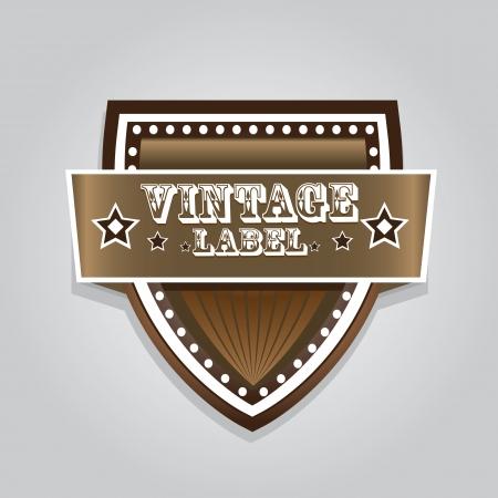 vector vintage label retro style   Illustration