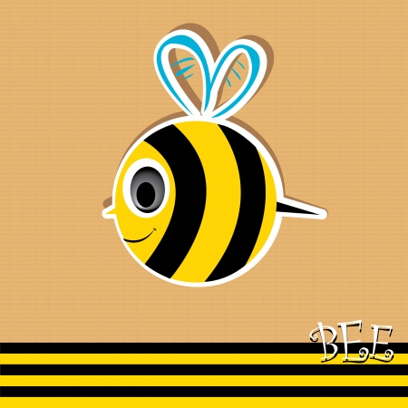 bee icon. illustration. Vector