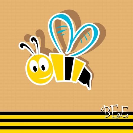 abeja caricatura: icono de abeja. ilustraci�n. Vectores