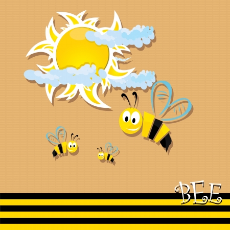 baby stickers: bee icon. illustration.