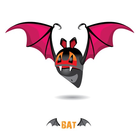 funny devil bat with wings. halloween character Stock Vector - 22576011