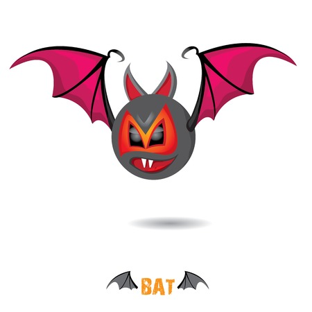 funny devil bat with wings. halloween character Stock Vector - 22576012