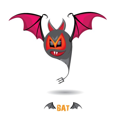 funny devil bat with wings. halloween character Stock Vector - 22576013