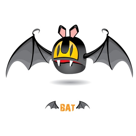 funny devil bat with wings. halloween character Stock Vector - 22576015