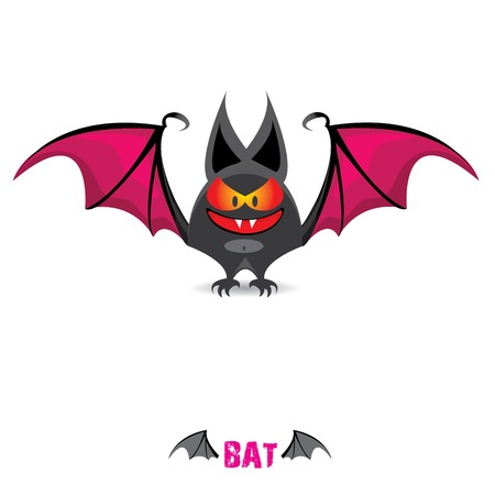 funny devil bat with wings. halloween character Stock Vector - 22576016