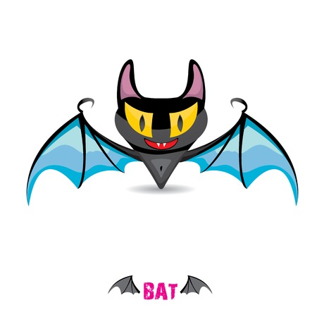 funny devil bat with wings. halloween character Stock Vector - 22576017