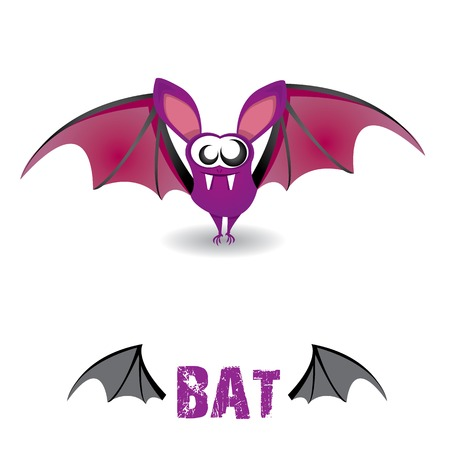 funny devil bat with wings. halloween character Stock Vector - 22576018