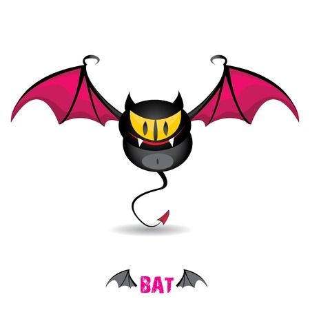 funny devil bat with wings. halloween character Stock Vector - 22576019