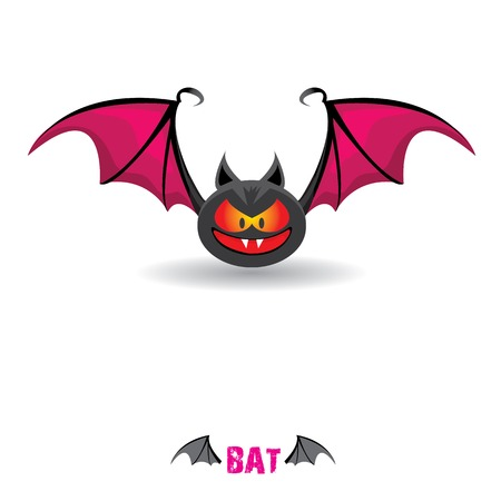 funny devil bat with wings. halloween character Stock Vector - 22576022