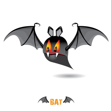 funny devil bat with wings. halloween character Stock Vector - 22576023
