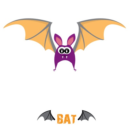 funny devil bat with wings. halloween character Stock Vector - 22576044