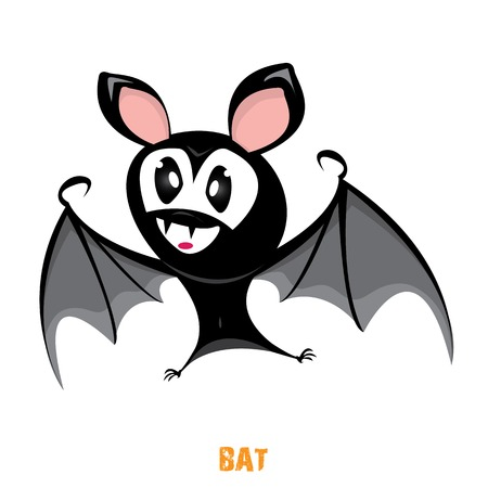 funny devil bat with wings. halloween character Stock Vector - 22576047
