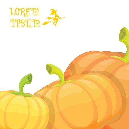 halloween invitation border with  pumpkins for design.