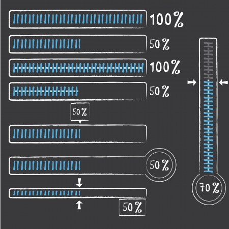 blue preloaders and progress loading bars. vector illustration. Vector