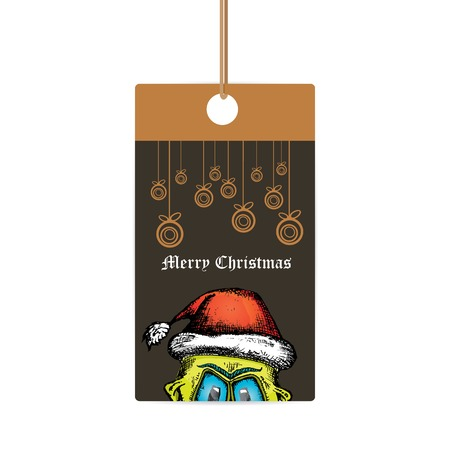santa zombie: doodle style monster. merry christmas creative card Illustration