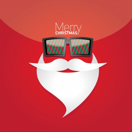 Vector Hipster santa poster for party or greeting card. Stock Vector - 23650655