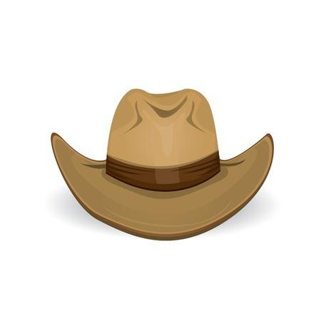 cappello cowboy: cappello da cowboy. illustrazione vettoriale. Vettoriali