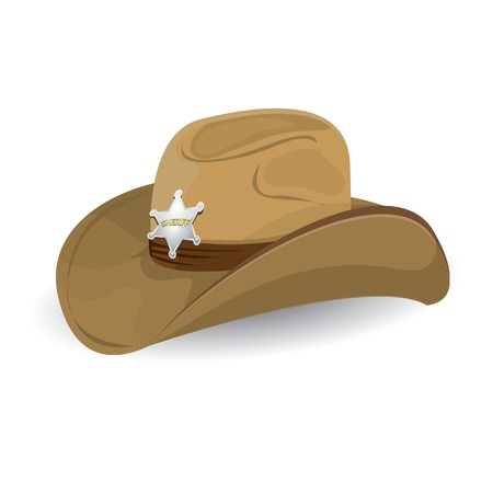 cowgirls: cowboy hat. vector illustration.
