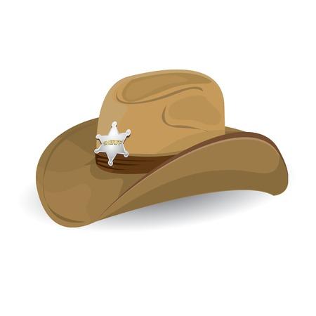 vaqueritas: sombrero de vaquero. ilustración vectorial.