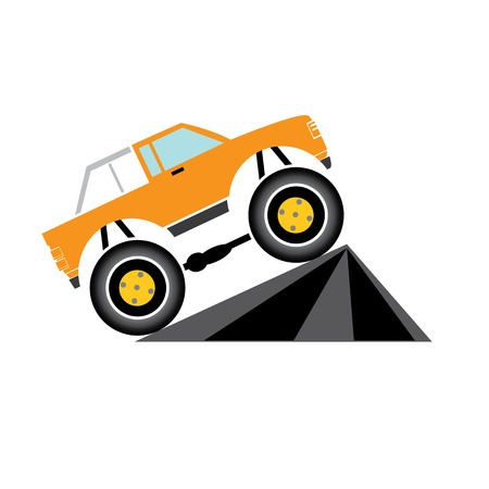 Vector Cartoon Monster Truck Vector