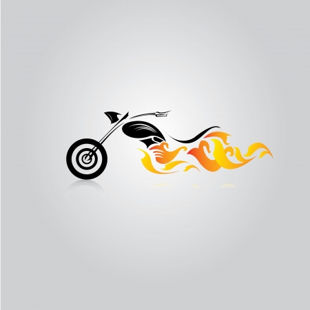 vector Silhouette of classic motorcycle. vector motorcycle icon Stock Illustratie