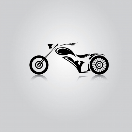 vector Silhouette of classic motorcycle. vector motorcycle icon Stock Vector - 23975232
