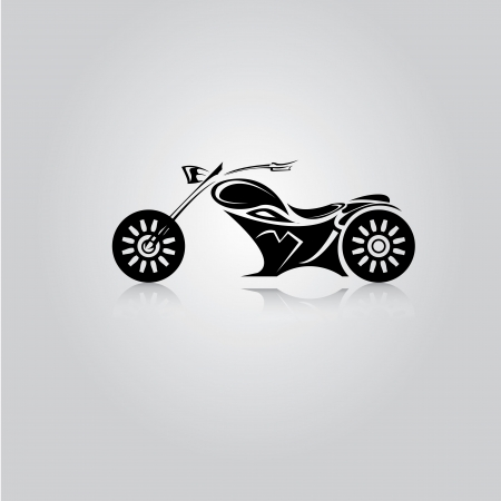 vector Silhouette of classic motorcycle. vector motorcycle icon Stock Vector - 23975239