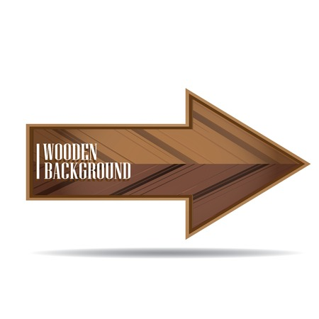 vector wooden background. vector wooden arrow or sign Illustration
