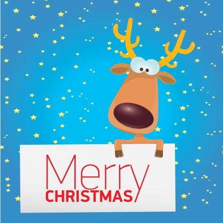 renos de navidad: niños feliz navidad ilustración con renos