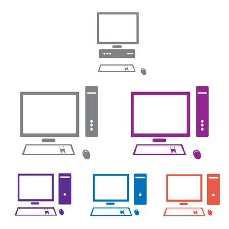 vector computer icon set Vector