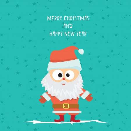 pelota caricatura: Vector comic feliz de dibujos animados tarjeta de felicitaci�n de la Navidad Vectores