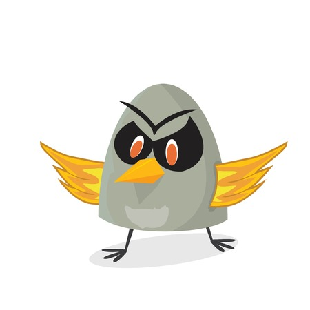 vector bad bird. funny bird character Vector
