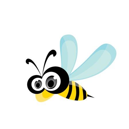vector bee icon. cartoon cute bright baby bee. Illustration