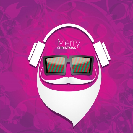 Vector Hipster santa poster for party or greeting card. Stock Vector - 24697507
