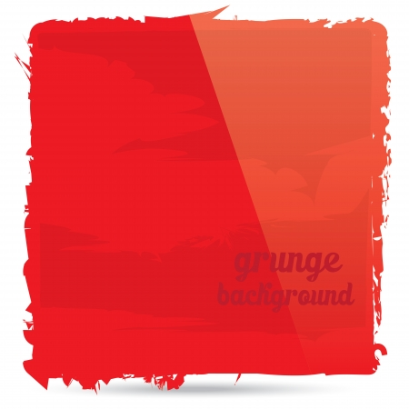 Abstract red grunge banner for design
