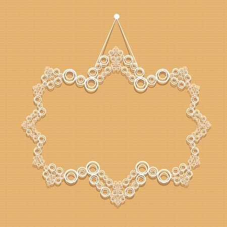 cut paper design retro frame. Vector