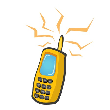 cdma: vector mobile phone icon. cartoon phone.