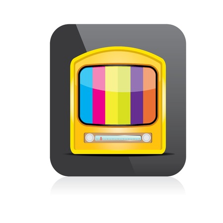 vector tv icon. online tv symbol. app icon Vector