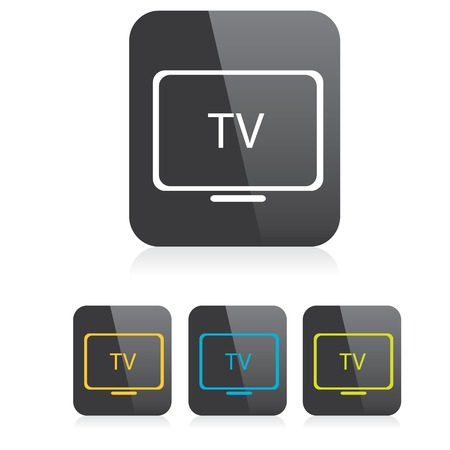 retro tv: vector tv icon. online tv symbol. app icon Illustration