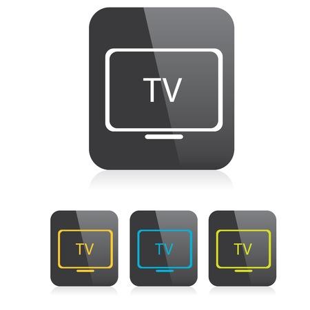 television antigua: vector tv icono. s�mbolo de televisi�n en l�nea. icono de la aplicaci�n